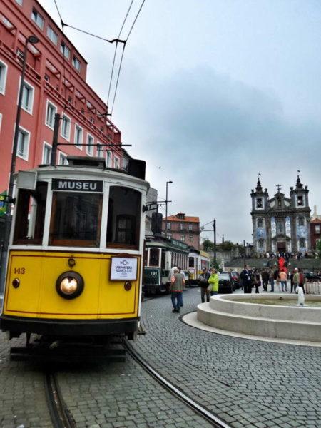 Porto, Clerigos Tower and Classical Tram