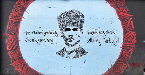 Atatürk kaligrafi (Beyoğlu)