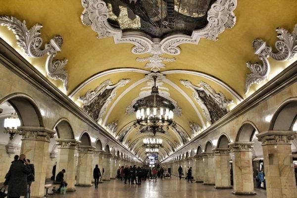 Moscow - Komsomolskaya Metro Station
