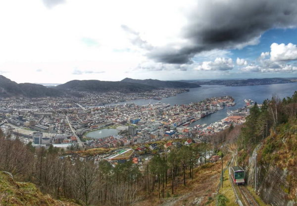 Bergen_View from Mount Fløyen