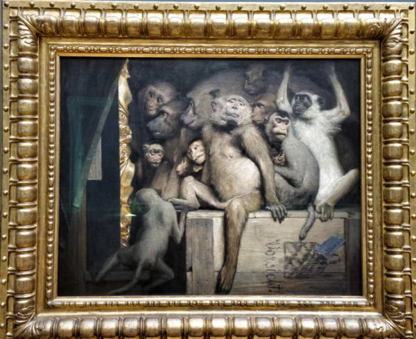 Munich - Neue Pinakothek_Gabriel von Max's Monkeys as judges of art