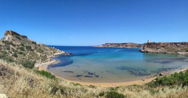 Malta_Ghajn Tuffieha Beach