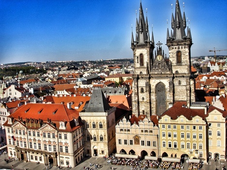 Prag_View from Old Town Hall Tower