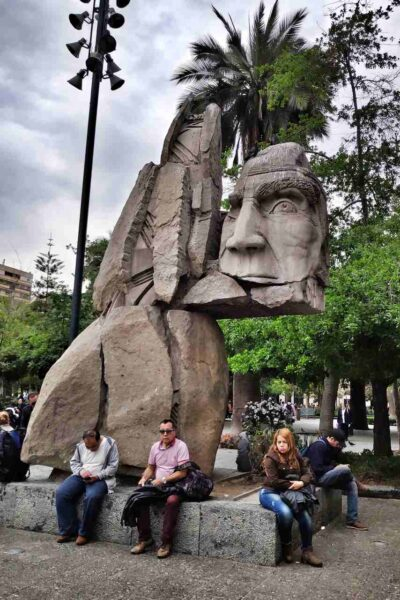 Chile-Santiago-Monument to the Indigenous People