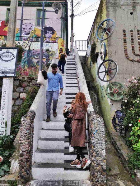 Chile-Valparaiso-Piano Stairway