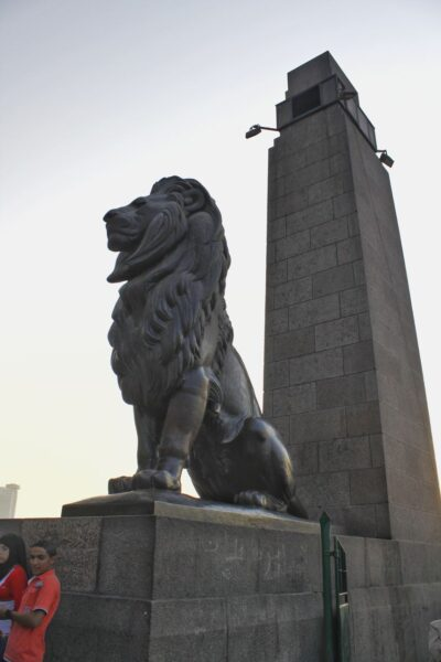 Egypt_Cairo_Lions of Qasr Al-Nil Bridge